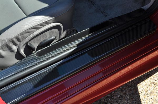 Porsche 996 carbon door sill trim door entry storage cover umbrella trim panel