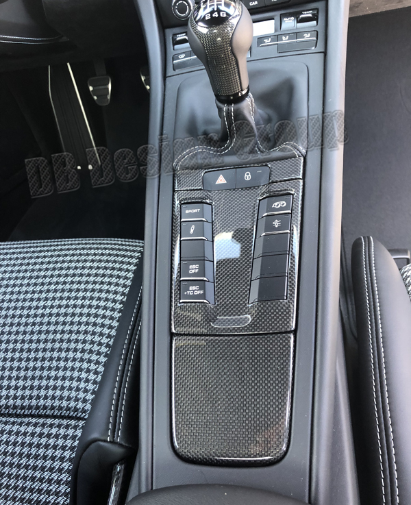 Porsche 991 carbon center console switch unit switch trim panel console cover