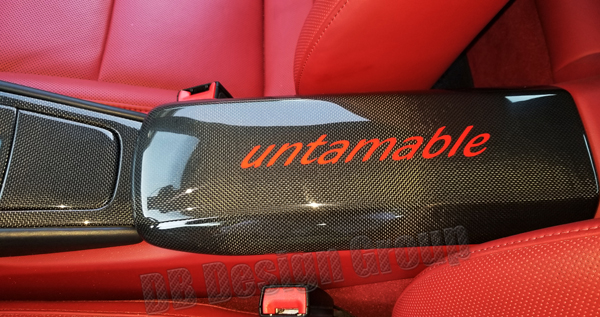 Porsche 991.2 carbon lid center console armrest trim console storage cover