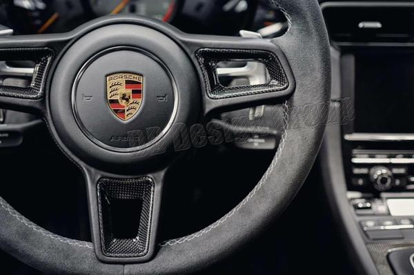 Porsche 991 carbon Lenkrad Einsätze Sport Design Lenkrad Zier Blenden Taste Verkleidung