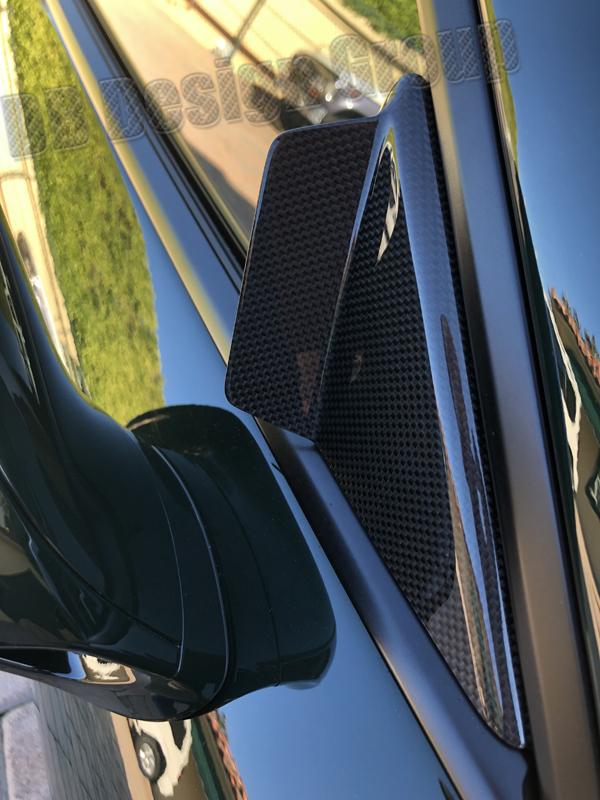 Porsche 991 carbon Spiegel Dreiecke Windgeräusche Spiegel Abdeckung Blende Fenster