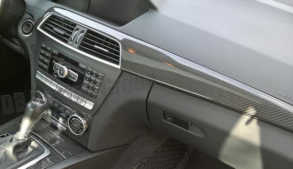 Mercedes Benz C W204 carbon Zierleiste Armaturenbrett Dekor Leiste Verkleidung Instrumententräger Blende Zierteil