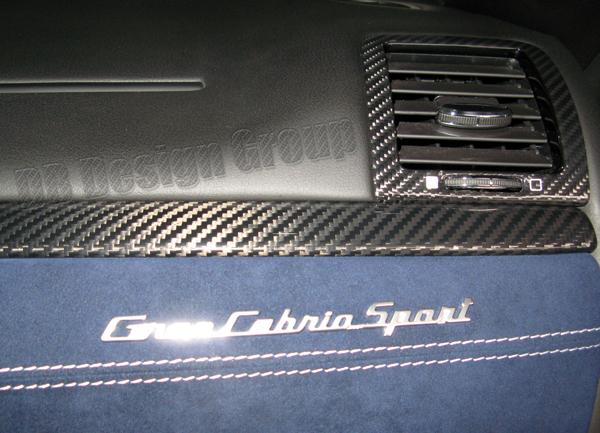 Maserati GranTurismo Carbon Seitendüsen Luftdüse Blende Armaturenbrett Ausströmer Lüftung Verkleidung