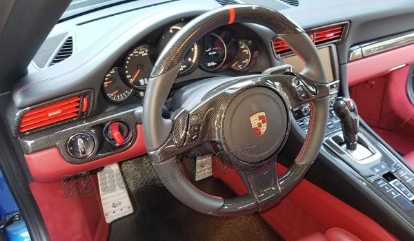 Porsche 991 carbon Lenkrad Sport Design Lenkrad  Multifunktion Airbag