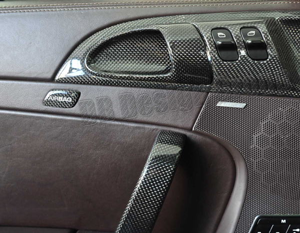 Porsche 997 carbon Airbag Emblem door panel badge trim piece