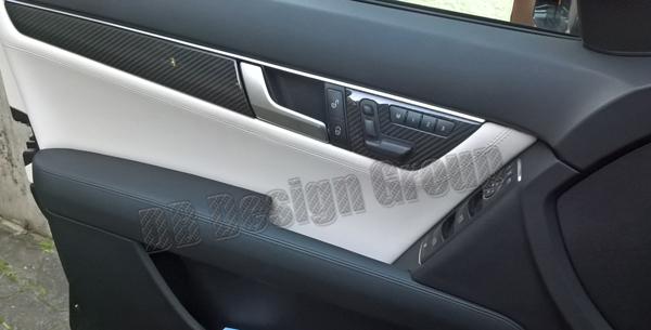 Mercedes Benz C W204 carbon Zierleiste Türverkleidung Dekor Leiste Sitz Memory Verkleidung Tür