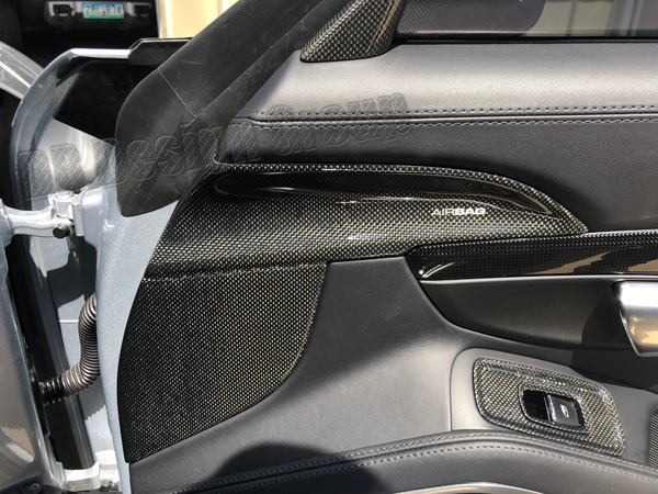 Porsche 981 carbon door panel trim airbag cover interior door carbon parts