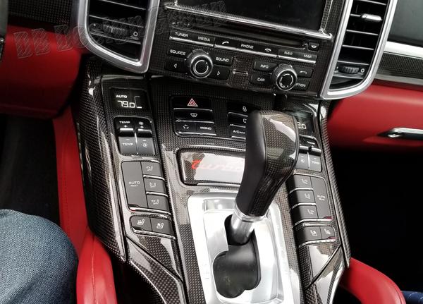 Porsche 958 Cayenne carbon Klima Bedienteil Betätigung Schalter Klimaanlage Blende Konsole Carbonteile