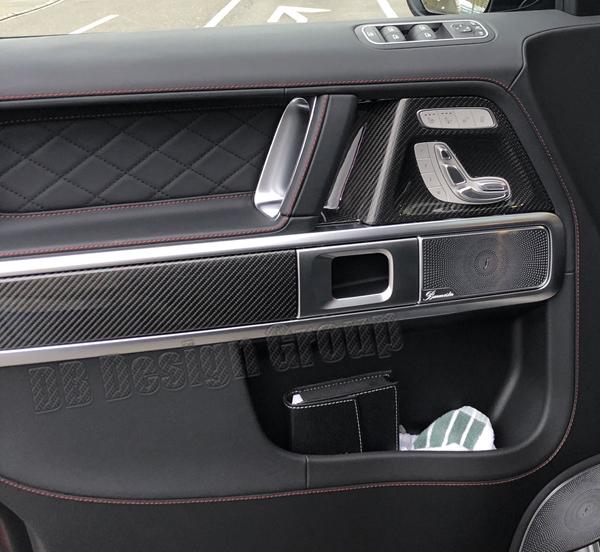 Mercedes Benz G W463 G63 AMG carbon Zierteil Tür Dekor Blende Türverkleidung Zierleiste Interieur Carbonteile