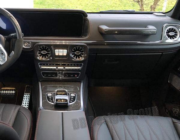 Mercedes Benz G W463 G63 AMG carbon Zierteil Luftdüse Dekor Blende Lüftung Zierleiste Seitendüse Zündschloss Armaturenbrett Carbonteile