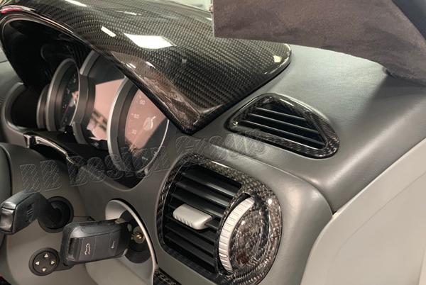 Porsche 955 Cayenne carbon Luftgitter Armaturenbrett Defroster Düsen Lüftung Carbonteile