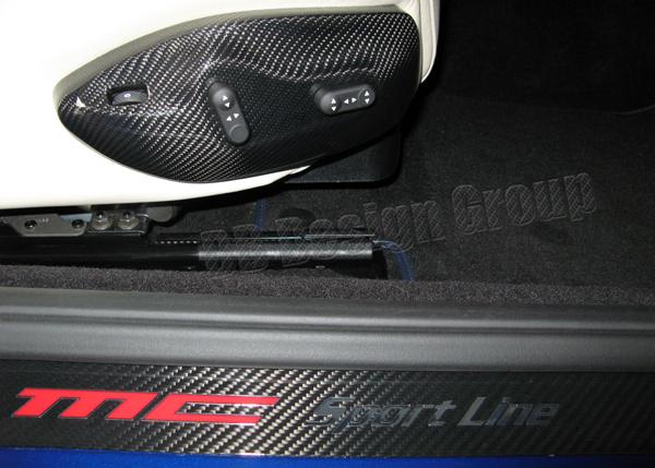 Maserati GranTurismo carbon seat switch cover seat adjusting trim panel front seats carbon parts