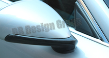 Porsche 981 718 991 911 carbon side mirror housing trim window triangle cover carbon parts