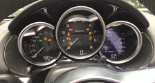 Porsche 981 718 Boxster Cayman carbon instrument cluster trim speedometer cockpit cover dash carbon parts