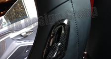 Porsche 981 718 991 911 carbon seat release handles trim seat adjusting cover sport seats carbon parts