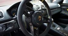 Porsche 981 718 991 911 carbon sport design steering wheel trim arm multifunction switch inserts carbon parts