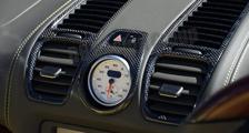 Porsche 981 Boxster Cayman carbon chrono clock housing dash air vent trim dashboard carbon parts