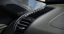 Porsche 981 Boxster Cayman carbon dash air vent trim dashboard carbon parts