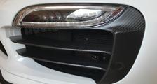 Porsche 991 991.2 turbo carbon front air intake vent grill slats park sensor cover strip exterior carbon parts
