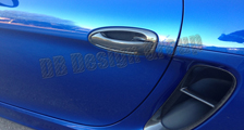 Porsche 981 Boxster Cayman carbon door grab handle side air intake vent duct cover carbon parts