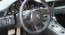 Porsche 981 718 991 911 carbon steering wheel trim arm airbag surround cover multifunction switches carbon parts