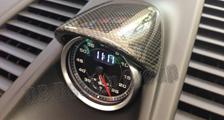 Porsche 991 991.2 911 carbon sport chrono clock housing cover dashboard carbon parts