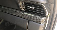 Porsche 991 991.2 911 carbon dash trim lining side air vent cover cupholder dashboard carbon parts