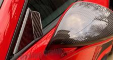 Porsche 981 718 991 911 carbon sport design mirror housing side mirror triangle trim wind buffeting carbon parts