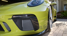 Porsche 991 991.2 GT3 911 carbon front bumper spoiler lip DRL trim exterior carbon parts