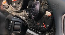 Porsche 991 991.2 911 carbon instrument cluster trim surround speedometer cockpit cover dash carbon parts