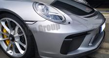 Porsche 991 991.2 GT3 911 carbon front bumper spoiler lip DRL air intake trim spear exterior carbon parts