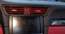 Porsche 991 991.2 911 carbon center dash air vent trim dashboard carbon parts