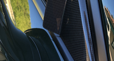 Porsche 981 718 991 991.2 911 carbon side mirror triangle trim anti wind buffeting cover carbon parts