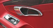 Porsche 981 718 991 911 carbon door pull insert trim window switch surround cover door panel carbon parts