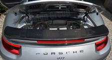Porsche 991 991.2 turbo 911 carbon rear wing spoiler engine bay trim panel exclusive series exterior carbon parts