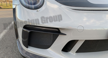 Porsche 991 991.2 GT3RS 911 carbon spoiler lip front bumper air intake vent duct trim Weissach exterior carbon parts