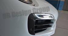Porsche 991 991.2 turbo 911 carbon front bumper air intake grill slats trim Park sensor cover exterior carbon parts
