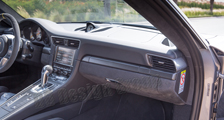 Porsche 981 718 991 911 carbon console trim lining cupholder cover strip dashboard carbon parts