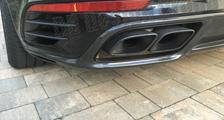 Porsche 991 991.2 turbo 911 carbon rear diffusor spoiler cover exhaust pipe surround exterior carbon parts