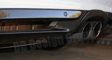 Porsche 981 Boxster Cayman carbon rear diffusor trim exhaust surround cover rear bumper carbon parts