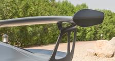 Porsche 991 991.2 GT3 RS 911 carbon rear wing blade rear engine deck lid spoiler support cover exterior carbon parts