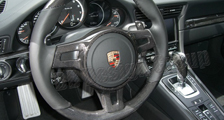 Porsche 981 718 991 911 carbon sport design steering wheel trim arm airbag surround cover carbon parts