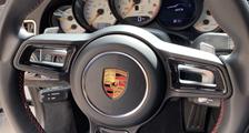 Porsche 981 718 991 911 carbon sport design steering wheel trim inserts carbon parts