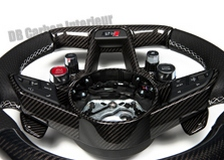 Carbon Lenkrad Porsche 955 957 Cayenne Leder Alcantara abgeflacht 12 Uhr Ring