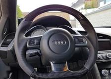 Carbon Lenkrad Audi R8 42 Leder Alcantara abgeflacht 12 Uhr Ring