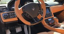 Carbon Lenkrad Maserati GranTurismo Quattroporte Leder Alcantara abgeflacht 12 Uhr Ring