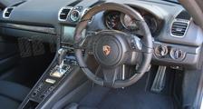 Carbon Lenkrad Porsche 981 991 911 Leder Alcantara abgeflacht 12 Uhr Ring