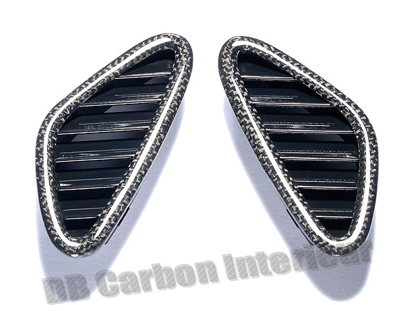 Porsche 997.2 carbon air vents dash defrost air grill trim dashboard carbon parts