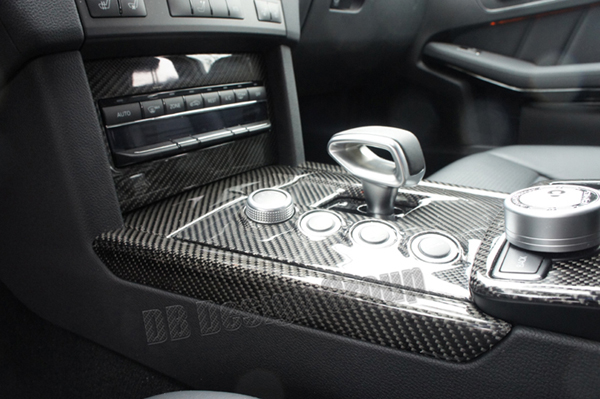 Mercedes Benz E W212 carbon Rahmen Klimabedienteil Verkleidung Blende Klima Konsole