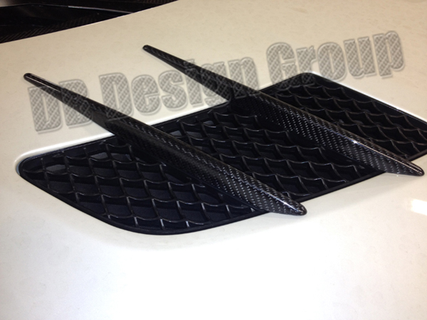 Mercedes Benz SLS AMG engine lid fins front hood air intake trim